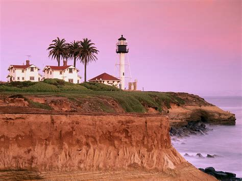 Light California by Point Loma Lighthouse San Diego California Picture Point