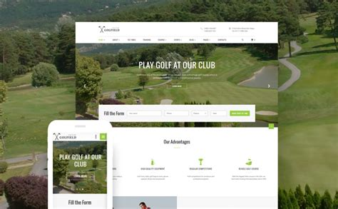 bootstrap themes free golf golf club website template