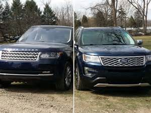 Ford Range Rover 2016 Range Rover Vs Ford Explorer