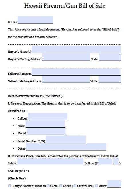 florida statute boat registration free hawaii firearm gun bill of sale form pdf word doc