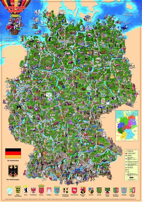 map of deutschland germany an illustrated map of germany maps travel places etc