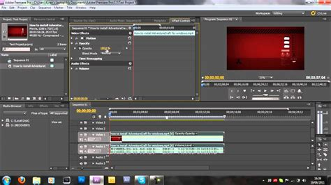adobe premiere pro you how to fade in and out in adobe premiere pro cs5 youtube
