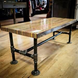 recycled skateboard coffee table butcher block by adrianmartinus