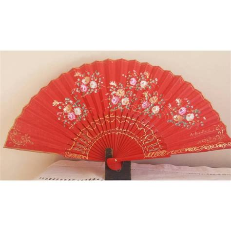 Handmade Fans - fan wood gift painted and handmade in