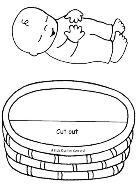 preschool bible coloring pages moses baby moses craft right click to download recommended