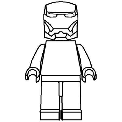 iron template lego iron coloring pages to print
