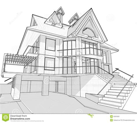 blueprints houses house architecture blueprint stock vector illustration of architecture element 5591633