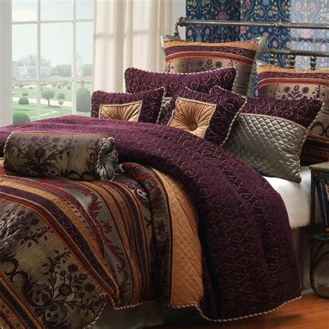 burgundy bedding sets queen hallmart collectibles petra