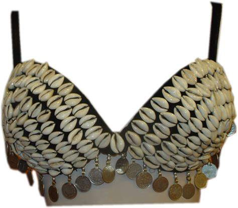 Shell Bra inspiration for decorating a bra for tribal style belly jade belly