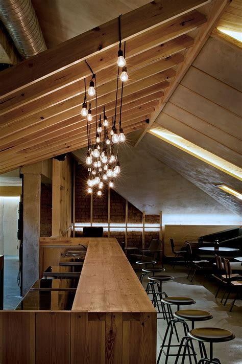 angled roof ravishing attic bar blends rustic textures with