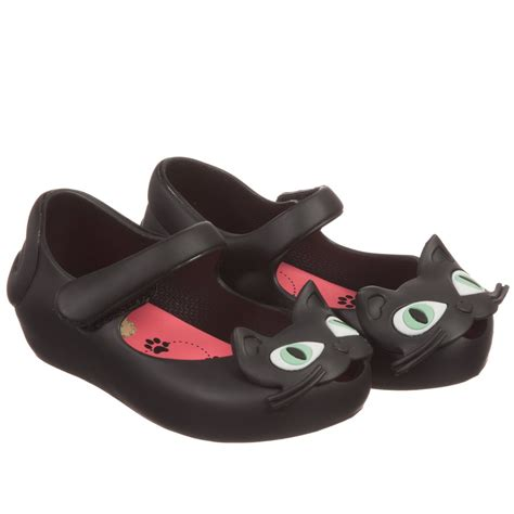 mini black cat jelly shoes childrensalon