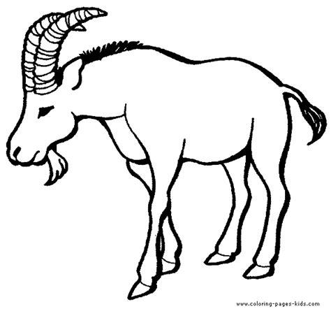 farm goat coloring page goat color page