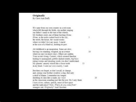 carol ann duffy in mrs tilscher's class | doovi