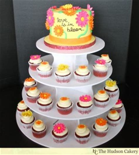 watering can bridal shower cupcake tower {cupcakes} | the