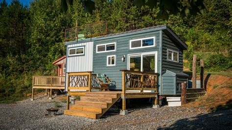 Tiny House Deck by Shangri Little At Live A Little Chatt Tiny Living