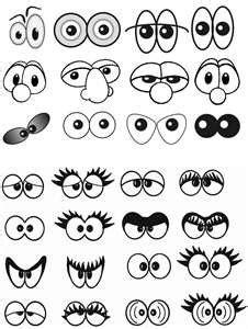 printable silly eyes нарисованные глазки