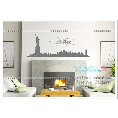 home decor stores new york wall stickers statue of liberty wall sticker new york city buildings home decor shop window