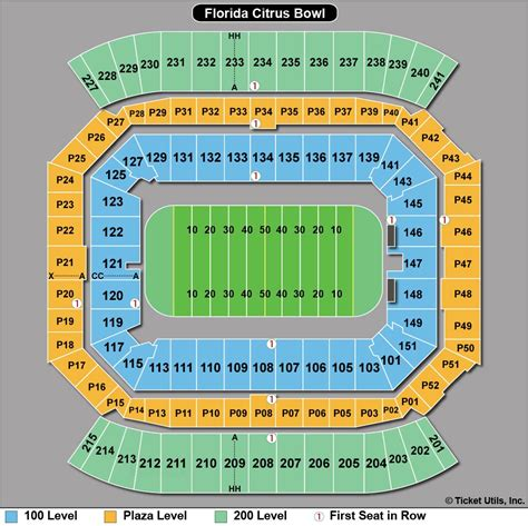 citrus bowl stadium seating map citrus bowl seating chart with rows cing world