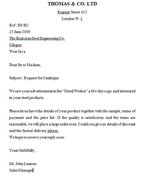 surat niaga dalam bahasa inggris mengenal administrasi perkantoran