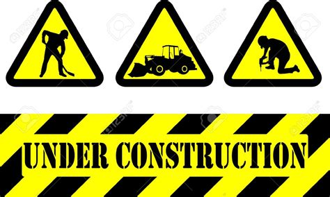 free printable under construction signs road work signs clipart 54