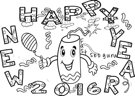 happy new year coloring pages for toddlers new year fireworks coloring pages for kids free