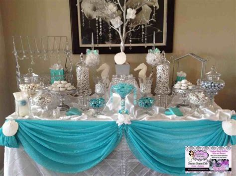 wedding candy table ideas punch s images on pinterest tiffany blue buffet ideas