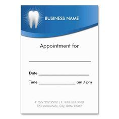 Dentist Appointment Card Business Card It Is The O Jays And Paper Dental Appointment Cards Templates