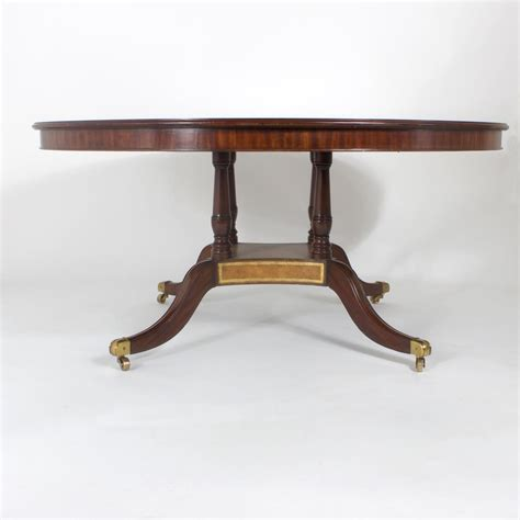 maitland smith leather top round table for sale at 1stdibs