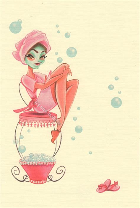 bathtub pinup spa day invitation set of 12 pered in pink mud mask