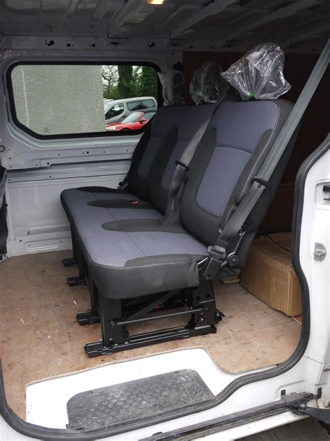 renault trafic back genuine folding oem rear triple bench seat from vauxhall