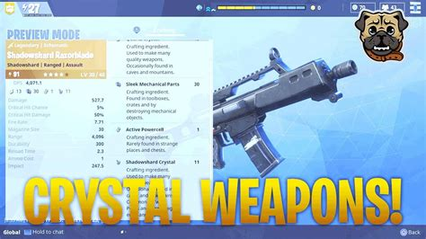 Fortnite   My Thoughts On Crystal Weapons   YouTube