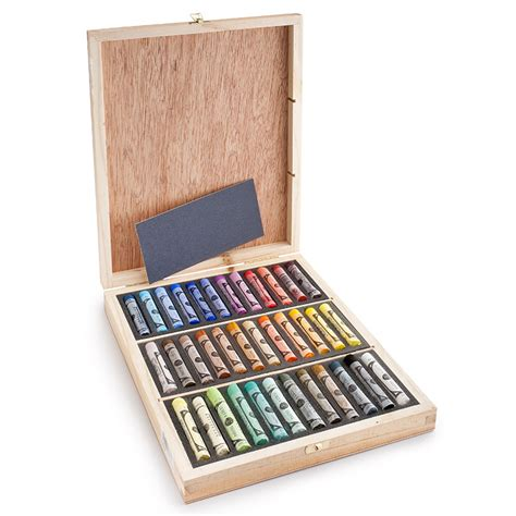 Soft Pastel Set 36 sennelier soft pastel wood box set of 36 eco paper at