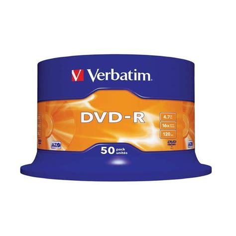Dijamin Verbatim Dvd R 16x verbatim 16x dvd r 4 7gb 50