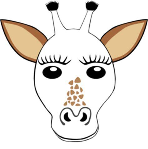 printable camel mask template giraffe template clipart best