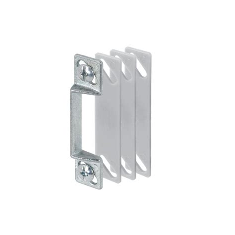 Screen Door Strike Plate prime line stainless steel door jamb strike plate 2 pack e 2301 the home depot