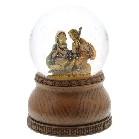 fontanini musical snowglobe silent night the catholic