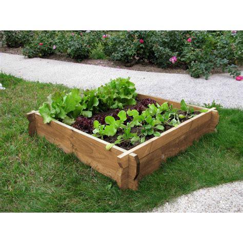 Carre Bois Pour Jardin votre carr 233 potager en bois non trait 233 h22 cm sur jardin