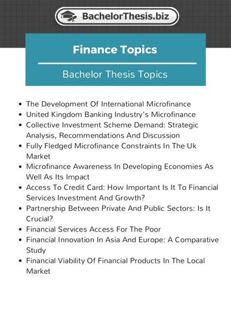 Mba Finance Thesis Topics List Pdf by Dissertation Titles In Finance Stonelonging Cf