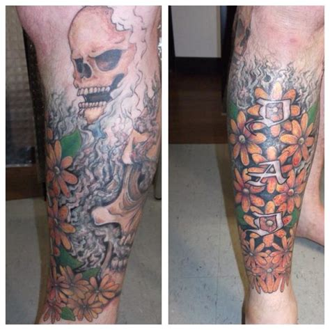 addictions tattoo fargo 1000 ideas about flower leg tattoos on leg