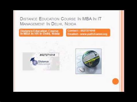 Mba Distance Course In Delhi by Distance Education Course In Executive Mba In
