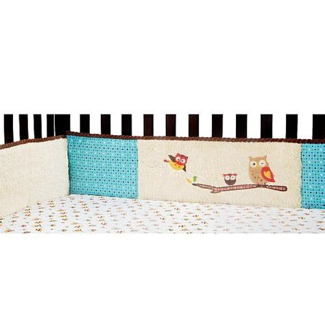 Laugh Giggle Smile Spotty Owls 4 Piece Bumper Pad Set Giggle Crib Mattress