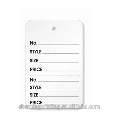 printable price tags for clothes white 2 part merchandise garment sale price tags buy