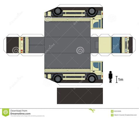 truck paper paper model of ambulance and police cars cartoon vector