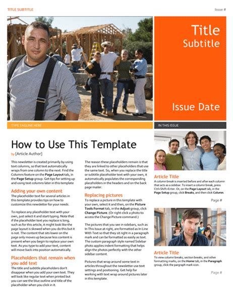 Newsletter Microsoft Word Newsletter Templates