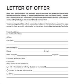 Offer Letter Sle Property House Offer Letter Template 28 Images Formal Offer Letter To Purchase Property Docoments