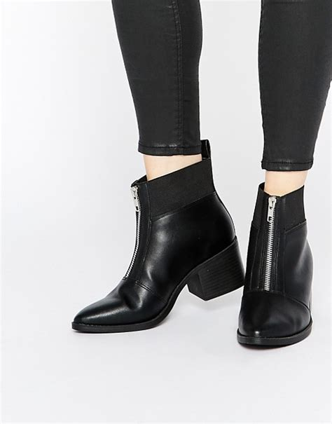 front zip ankle boots new look new look zip front ankle boots