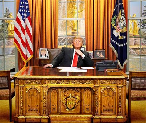 Trump Redesign Oval Office | donald trump decorates oval office with gold drapes