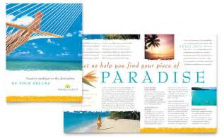 travel brochure templates free travel agency brochure template design