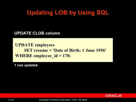 how to update clob data in oracle sql developer oracle program with pl sql lession 15