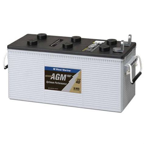 Battery L by West Marine L Terminal Dual Purpose Agm Battery 198